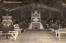 MILITARIA - CARTE - PHOTO -  CHAPELLE Du CAMP De SOLTAU - Kriegsgefangegen - Samuel Fouquet, Barraque 12 - Hanovre - - Guerre 1914-18