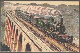 TRAN RAPIDE--CALAIS-PARIS--machine Outrance 1° Type Serie 2.800-Illustrateur SCEFERT - Trains