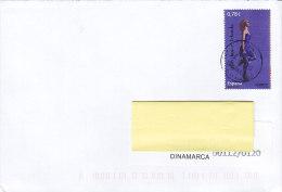Spain MADRID 2013 Cover Letra To Denmark Irish Dance Tanzen Stamp - 1931-Heute: 2. Rep. - ... Juan Carlos I