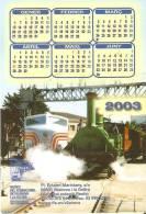 CALENDARIO DEL AÑO 2003 DE UN TREN (TRAIN-ZUG) (CALENDRIER-CALENDAR) - Calendarios