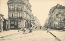 AGEN 389 CPA  AGEN Boulevard Carnot   Pharmacie De La Gare    Animation Belle Carte - Agen