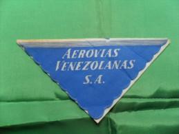 ANCIENNE SERVIETTE PAPIER / AEROVIAS VENEZOLANAS S.A - Sous-verres