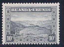 Ruanda-Urundi, Scott # 38 Mint Hinged Mountain, 1931 - 1924-44: Mint/hinged
