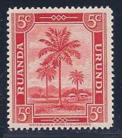 Ruanda-Urundi, Scott # 68 Mint Hinged Oil Palms, 1942 - 1924-44: Mint/hinged