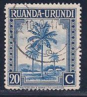 Ruanda-Urundi, Scott # 71 Used Oil Palms, 1942 - Ruanda-Urundi