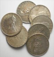 Lotto Di 7 Monete 500 Lire Caravelle - Argento - 1946-… : Repubblica