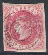 01919 España Edifil 60 O Cat. Eur. 345,- - 1850-68 Reino: Isabel II