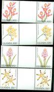 UGANDA SCOTT MINT N H # 1385-8 X 2  + ( FLOWERS  ORCHIDS - Uganda (1962-...)