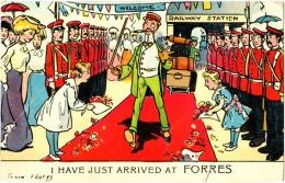 I Have Just Arrived At Forres - & Railway Station, Illustration - Ecosse