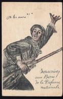 CPA ANCIENNE- FRANCE- MILITARIA- GUERRE 1914-18- FANTASSIN COLORISÉ- SOUSCRIPTION AUX BONS DE LA DÉFENSE NATIONALE- - Heimat