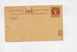 Carte Postale Quarter Anna - Postal Stationery