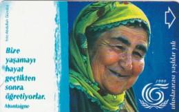 Turkey, N-114, International Year Of Elderly, Epigram From Montaigne, 2 Scans. - Turchia