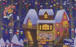 Carte Prépayée Japon - NOEL - Bonhomme De Neige - CHRISTMAS Snowman Japan Prepaid Card - WEIHNACHTEN Karte - 312 - Christmas