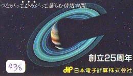 Télécarte Japon ESPACE * Phonecard JAPAN * SPACE SHUTTLE (438) Rocket * LAUNCHING * RAKETE * Météorite - Espace