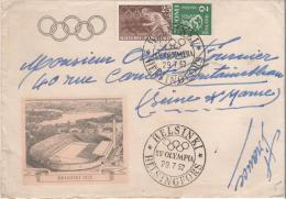 FINLAND  HELSINKI  XV° Olympia  29/07/52 - Ete 1952: Helsinki