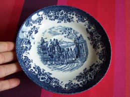 1 ASSIETTE CREUSE 17cm England COACHING SCENES FAÏENCE JOHNSON BROS IRONSTONE GATE KEEPER Récent - Staffordshire