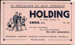 60 CREIL - 6 Place Carnot - HOLDING - Le Specialiste Du Beau Vetement - Blotters