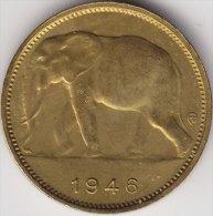 @Y@   Belge  Congo  1 Frank  1946  Elephant / Olifant     (2370) - 1945-1951: Régence