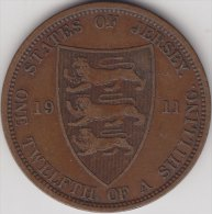 @Y@   Jersey    1 / 12 Shilling 1911 ( 2375 ) - Jersey