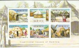 "NAMIBIA ""TRADITIONAL HOUSES OF NIMIBIA"" 2008 NEW - Namibia (1990- ...)"