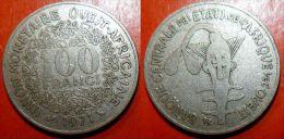 ETATS DE L'AFRIQUE DE L'OUEST 100 Francs 1971 - Monnaies