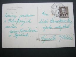 1952 , Bildganzsache  Verschickt - Czechoslovakia