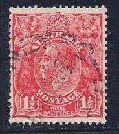 Australia, Scott #68 Used King George V, 1927 - 1913-36 George V: Heads
