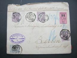 1895, Einschreiben  Wertbrief Nach Berlin - Periode 1891-1948 (Wilhelmina)