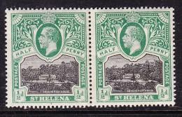 SAINT HELENA: GEORGE V, 1912, 1/2d, Horizontal Pair, MNH ** - Saint Helena Island