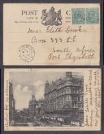 POINT NATAL C.d.s.: MY 11 1904 : Cape Town Post Card, Pair OfGB 1/2d, Tied + Cancelled PAQUEBOT - Afrique Du Sud (...-1961)