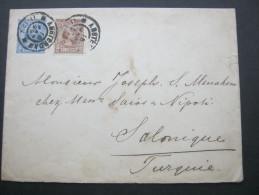 1891, Brief In Die Türkei - Periode 1891-1948 (Wilhelmina)