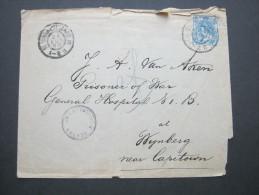 1900, Zensurbrief Nach Kapstadt - Periode 1891-1948 (Wilhelmina)