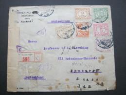 1921, Einschreiben Mit Zensur Nach Hamburg - Nederlands-Indië