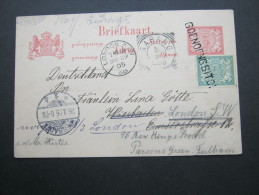 1905,  GOENOENGSITOI , Einzeiler   Auf Karte Nach Deutschland - Niederländisch-Indien