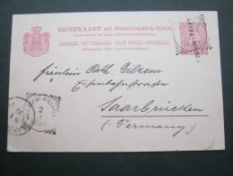 1899,  Einzeiler  Auf Karte Nach Deutschland - Nederlands-Indië
