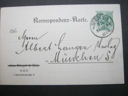 1908, Privatganzsache  Aus Wien - Covers & Documents