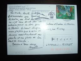 CP TP YT MAURY 3467 LA TORTUE LUTH 0,41E OBL.MEC. 21-6-2002 AIX LES BAINS (73 SAVOIE) - Marcophilie (Lettres)