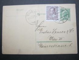 1908, Rohrpostkarte Wien - Briefe U. Dokumente