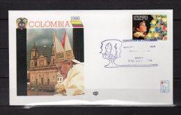 1986 : VOYAGES DU PAPE JEAN PAUL II / COLOMBIE Pope John Paul II  PAPA Jonas Paulius II Giovanni Paolo II - Colombie