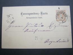 1890, Ca., TOBITSCHAU, Klarer Stempel Auf Karte - Briefe U. Dokumente