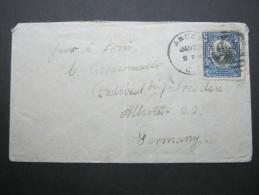 KANALZONE , Canalzone, 1912, Brief Nach Deutschland - Stamps
