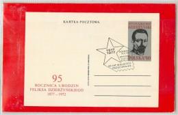 POLSKA - Intero Postale - FELIKSA  DZIERZYNSKIEGO - Postwaardestukken