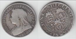 **** GREAT BRITAIN - GRANDE-BRETAGNE - 1 SHILLING 1897 - ONE SHILLING 1897 - VICTORIA - SILVER **** ACHAT IMMEDIAT !!! - 1816-1901 : Frappes XIX° S.