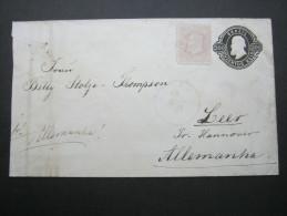 1887,  Brief Nach Deutschland - Brazil