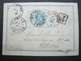 1885,  Karte Nach Corte - Brazil