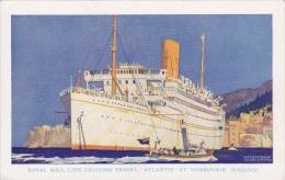 ATLANTIS At DUBROVNIK Kenneth SHOESMITH 5.5 X 3.5 Official Issue Postcard - Piroscafi