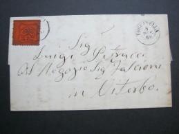 1869,  TOSCANELLA - Papal States
