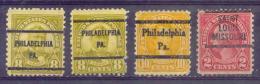 ETATS-UNIS  Préo PHILADELPHIE  Yvert  N° 235-235-237 Et SAINT-LOUIS MISSOURI Yvert N° 229  Sans Gomme - Vereinigte Staaten