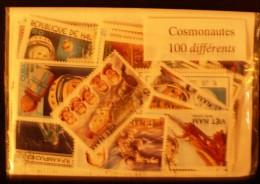 COSMONAUTES Lot De 100 Timbres Tous Differents Neufs Et Oblitérés. Satisfaction Assurée - Collections