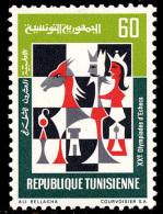 Tunisie 0728** Olympiades D'Echecs  MNH - Echecs